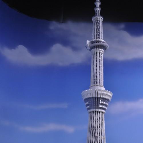 レゴでできた東京スカイツリー昼