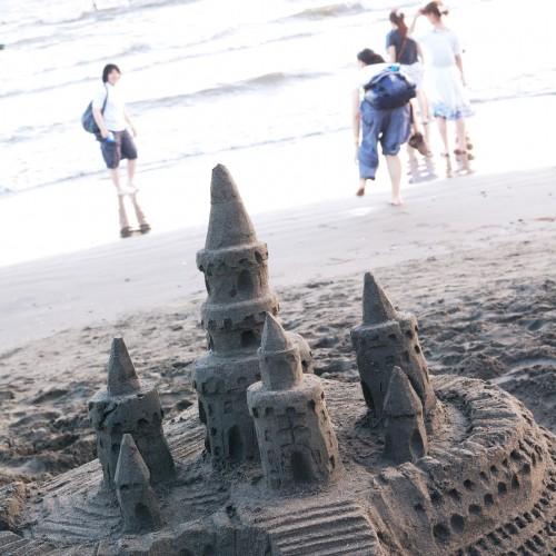砂のお城を本気の大人が作ってみる