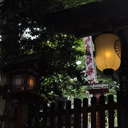 貴船神社の提灯