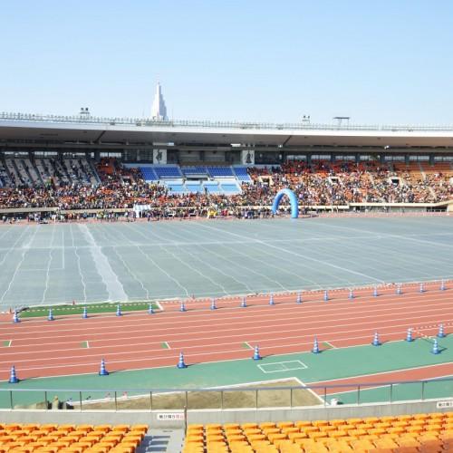 国立競技場反対側の座席から撮影