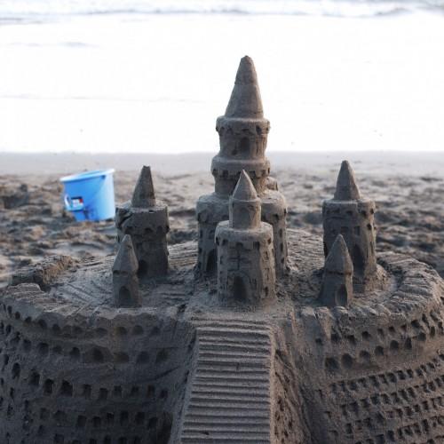 砂のお城全景
