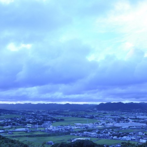 魚見塚展望台からの景色