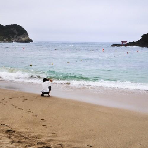 守谷海岸 渡島を撮る
