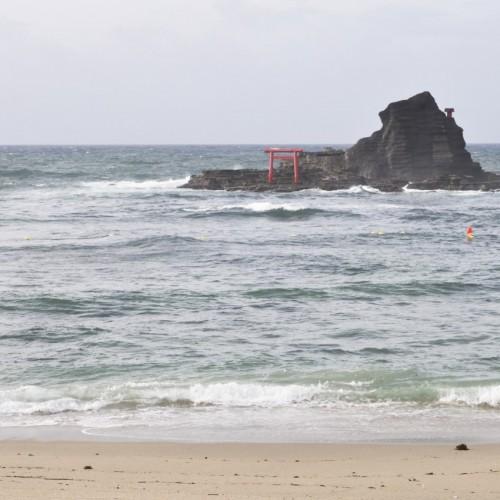 守谷海岸・渡島(朝)