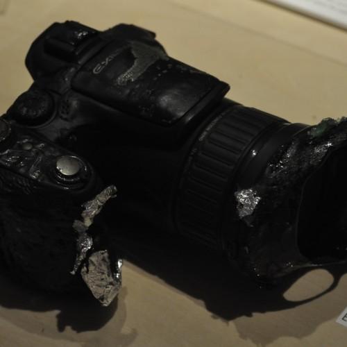 燃えたカメラ