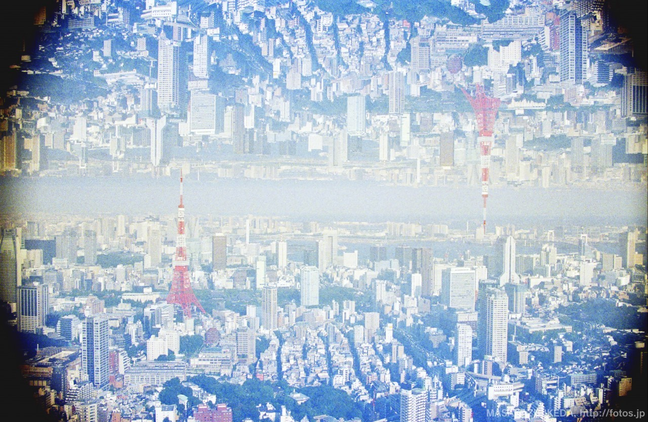 多重露光作品「東京タワーの間」