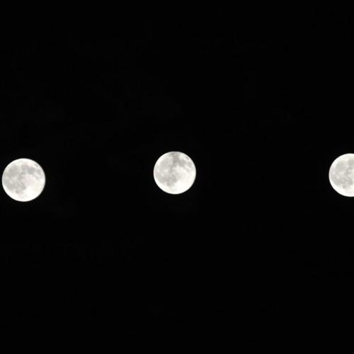 月の多重露光撮影の実験