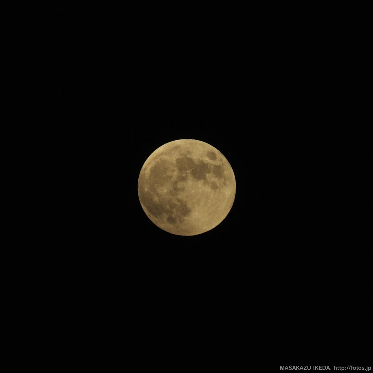 皆既月食前の月 ISO200・F8・1/320秒