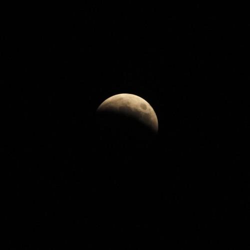 部分月食中の月 ISO200・F8・1/200秒