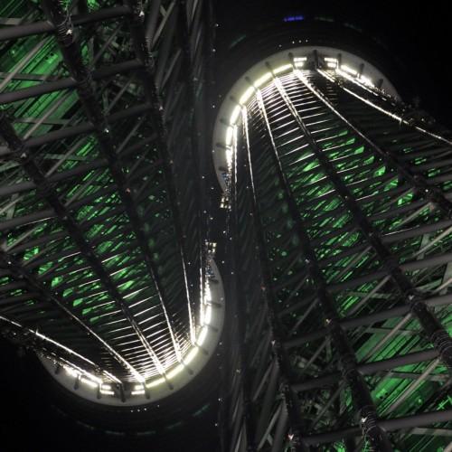 東京スカイツリー 多重露光 サイバーイメージ