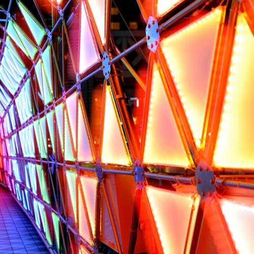 東京ドームシティ イルミネーション ウルトラマンロード 多重露光作品