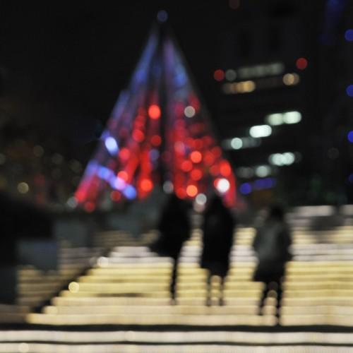 東京ドームシティのウインターイルミネーション2015 光の階段