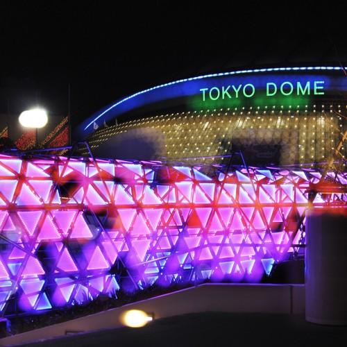 東京ドームシティウインターイルミネーション2015を楽しむ。