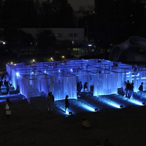Rhizomatiks Architecture「CURTAIN WALL THEATRE」アートナイト特別ライトアップ