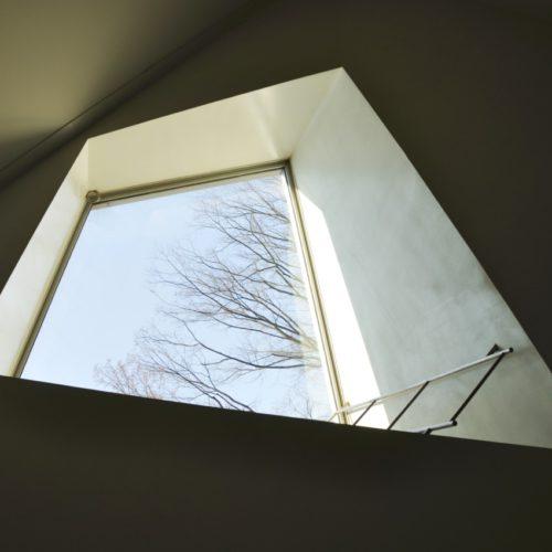 名古屋市美術館 階段途中の窓