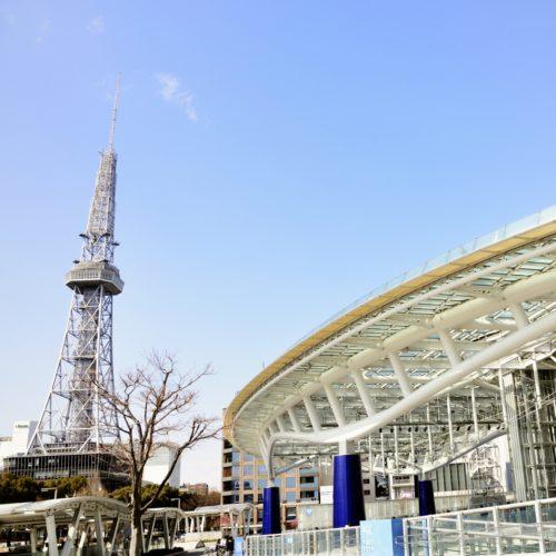 オアシス21で名古屋テレビ塔を眺めながら空中散歩
