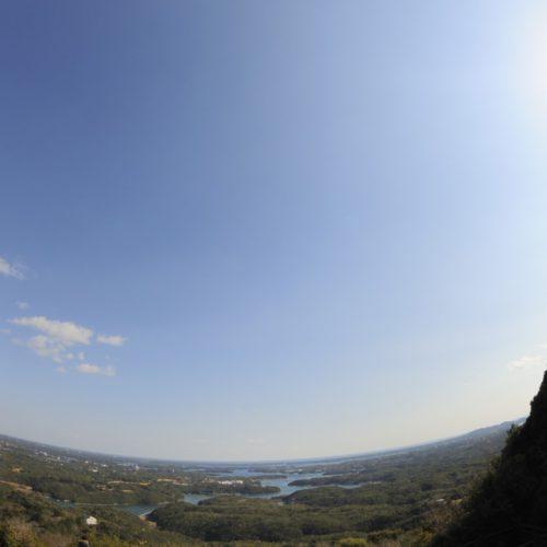 横山展望台からの景色(魚眼レンズ)