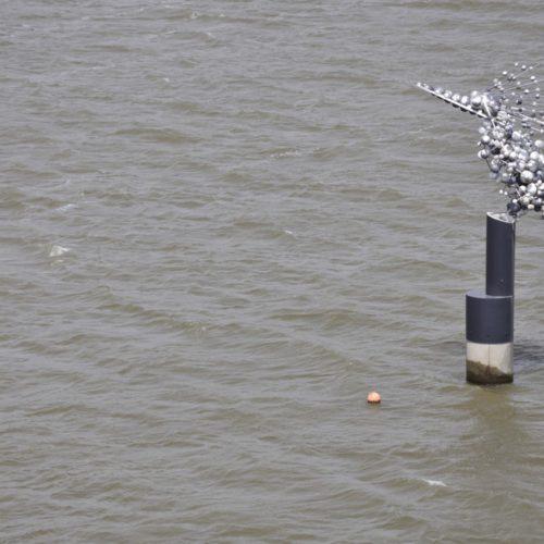 高滝湖の水上彫刻