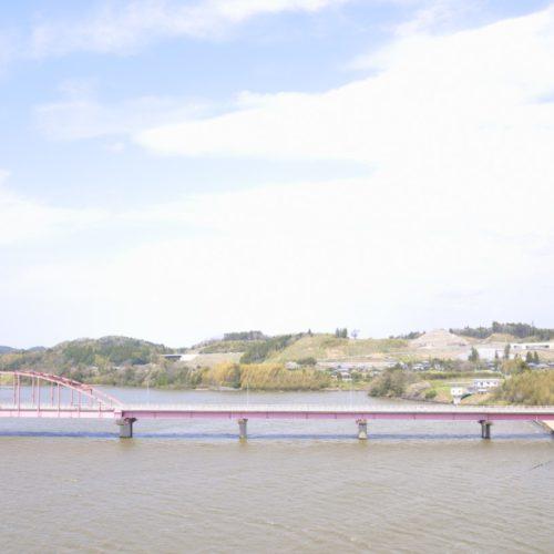 藤原式揚水機(展望台)から高滝湖を見た景色