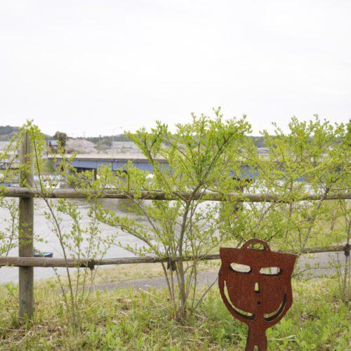 市原湖畔美術館 屋外のオブジェ