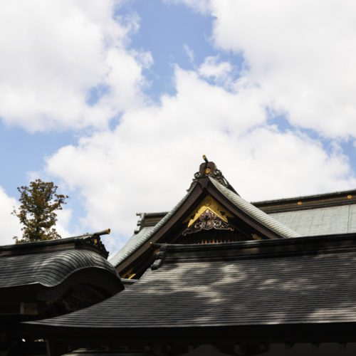 伊勢神宮参道内の景色