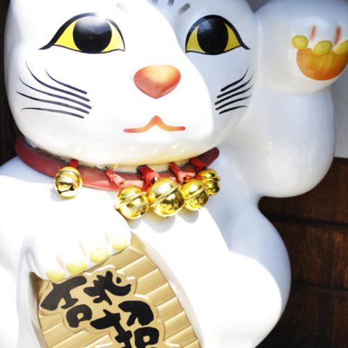 おかげ横丁 吉兆招福亭の招き猫