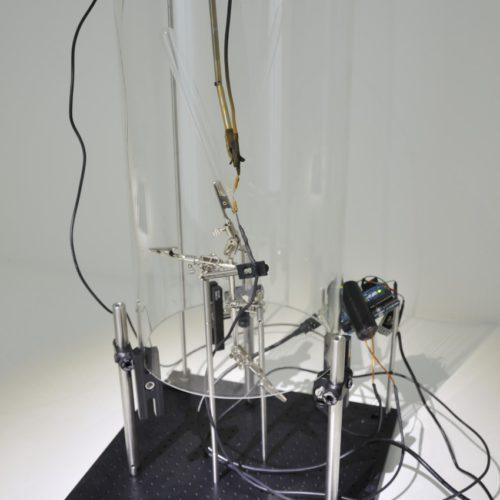 プラズマ発生音で虫の音を再現する作品